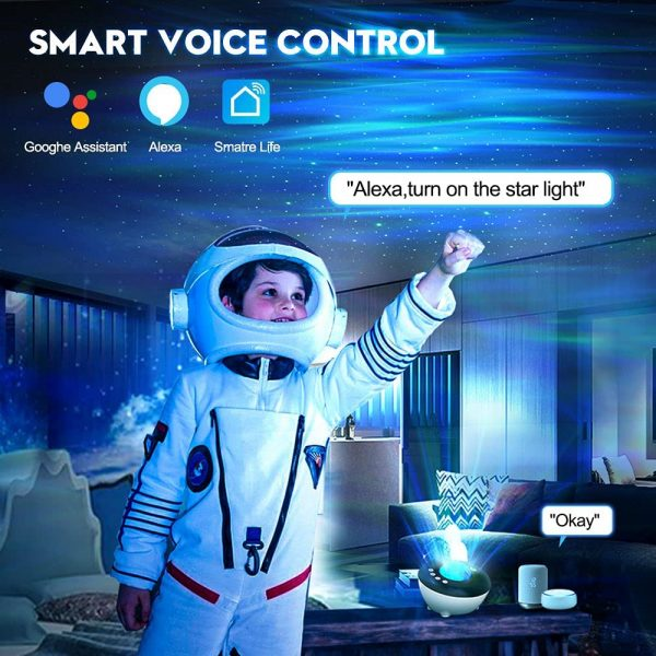 Galaxy Projector with White Noise Bluetooth Remote Speaker_6