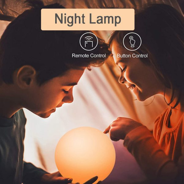 Color Changing LED Night Light Ball with Remote and Button Control_10