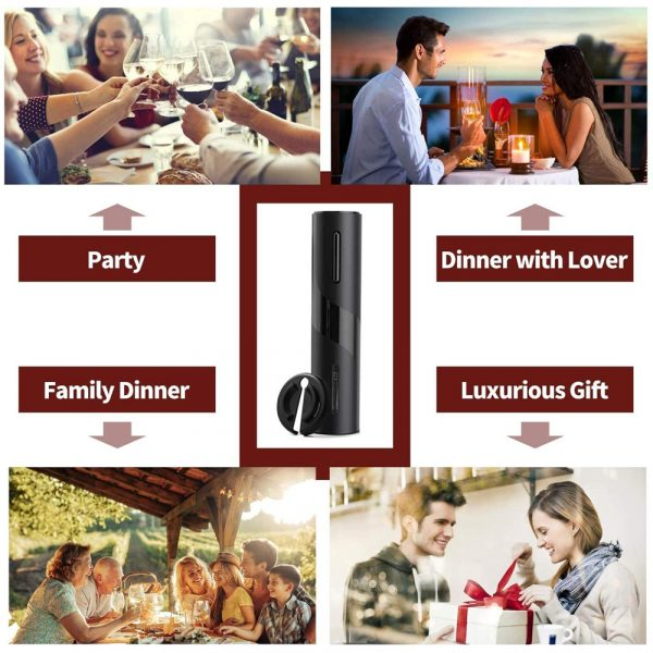 Battery Operated Electric Bottle and Wine Opener Automatic Corkscrew_14