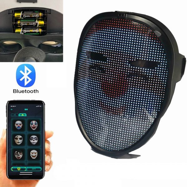 LED Face Transforming Luminous Face Mask for Halloween and Parties_24