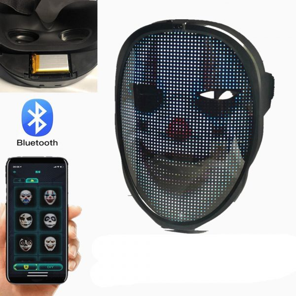 LED Face Transforming Luminous Face Mask for Halloween and Parties_25