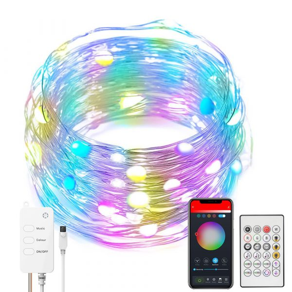 USB Interface Remote and APP Controlled LED Holiday String Lights_0