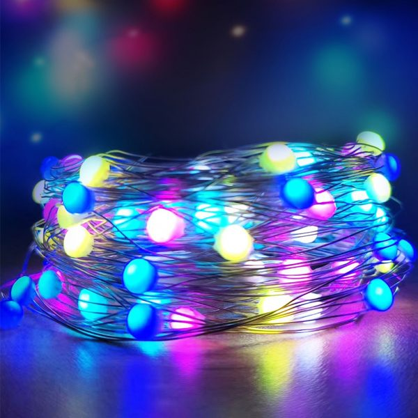 USB Interface Remote and APP Controlled LED Holiday String Lights_3