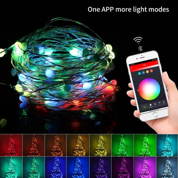USB Interface Remote and APP Controlled LED Holiday String Lights_8