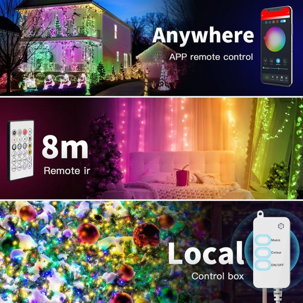 USB Interface Remote and APP Controlled LED Holiday String Lights_12