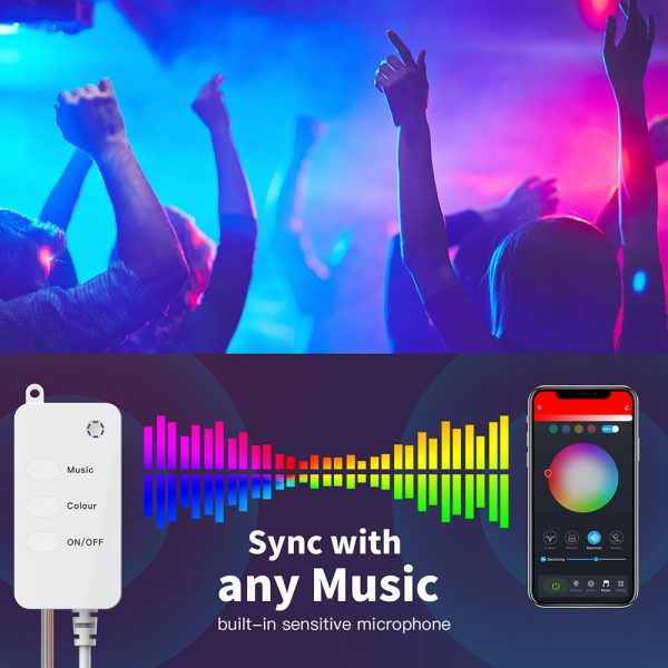 USB Interface Remote and APP Controlled LED Holiday String Lights_13