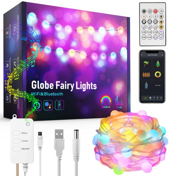 Remote Controlled Smart LED String Holiday Fairy Ball Lights_2