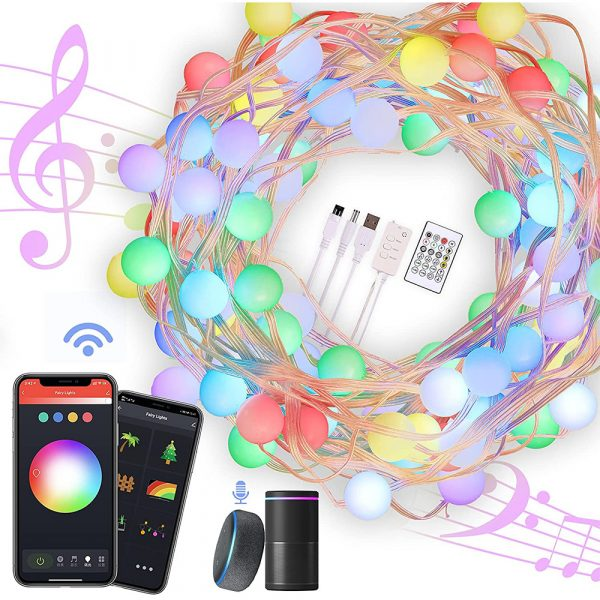 Remote Controlled Smart LED String Holiday Fairy Ball Lights_1