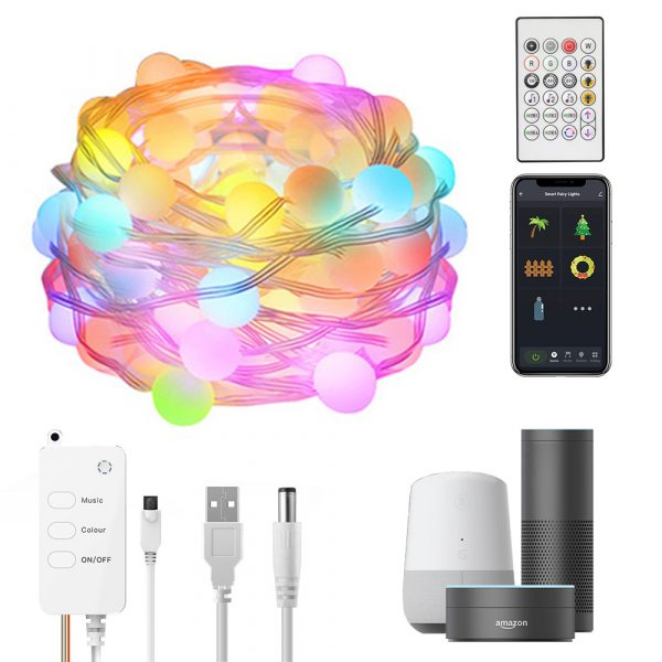 Remote Controlled Smart LED String Holiday Fairy Ball Lights_0