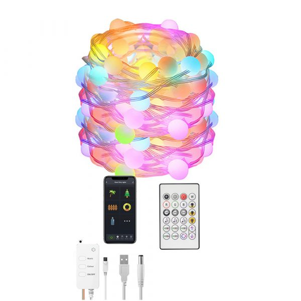 Remote Controlled Smart LED String Holiday Fairy Ball Lights_12