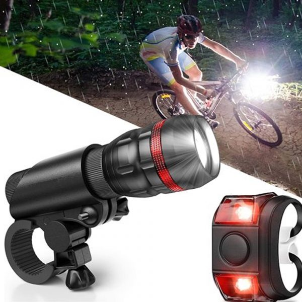 Battery Operated Bicycle Front and Tail Light Bike Safety Light_1
